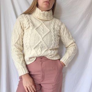 Irish Wool Fisherman Sweater